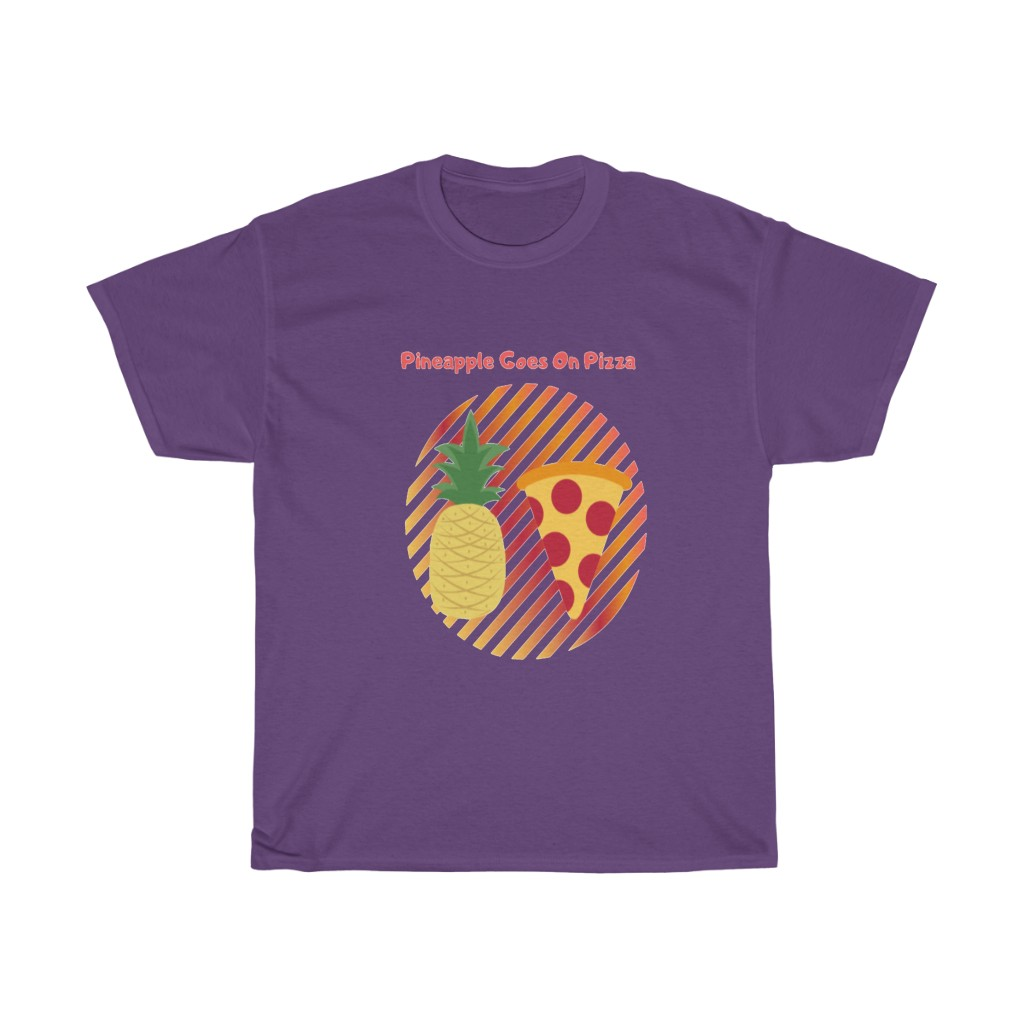 Pineapple Goes On Pizza Cotton Tee