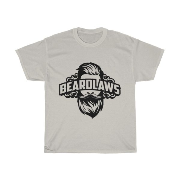 Beard Laws Unisex Heavy Cotton Tee (Black Logo)