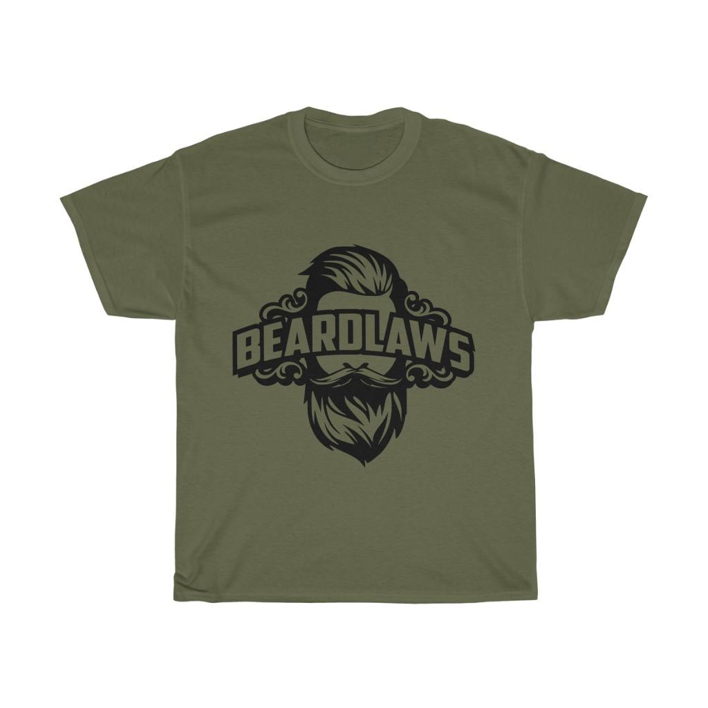 Beard Laws Unisex Heavy Cotton Tee (Black Logo)