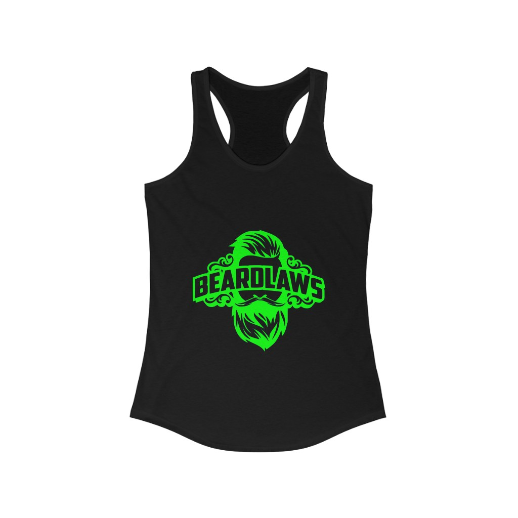 Beard Laws - Women's Ideal Racerback Tank - Lime Green