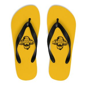 Beard Laws Black and Yellow Unisex Flip-Flops