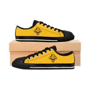 Beard Laws Black and Yellow Men's Sneakers
