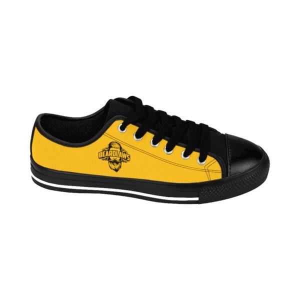 Beard Laws Black and Yellow Men's Sneakers