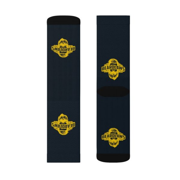 Beard Laws Black and Yellow Sublimation Socks