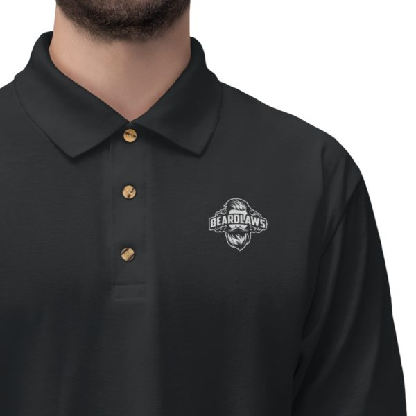 Beard Laws - Embroidered Men's Jersey Polo Shirt