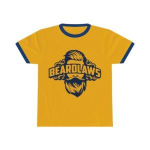 Beard Laws Ringer Tee - Navy Logo