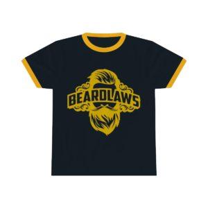 Beard Laws Ringer Tee - Yellow Logo