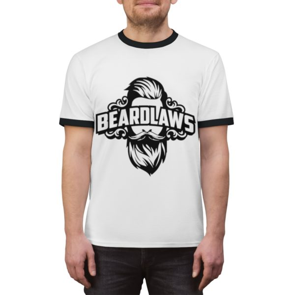 Beard Laws Ringer Tee - Black Logo