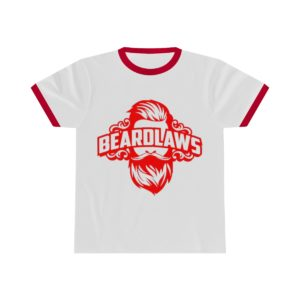 Beard Laws Ringer Tee - Red Logo