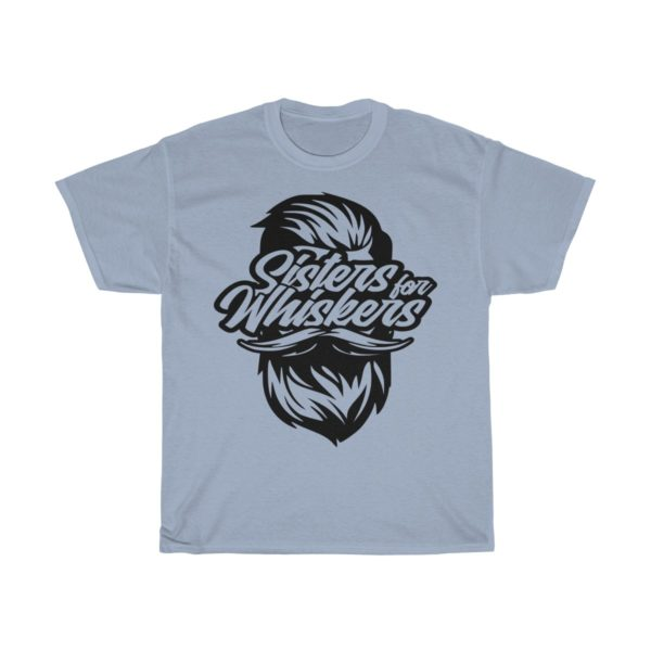 Sisters For Whiskers Unisex Heavy Cotton Tee - Black Logo