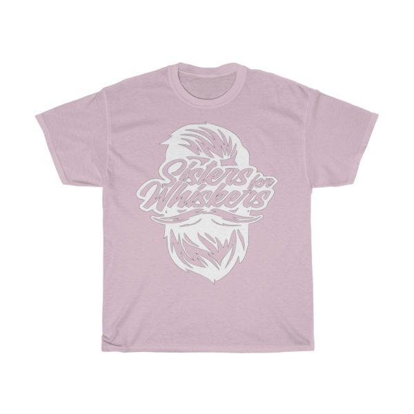 Sisters For Whiskers Unisex Heavy Cotton Tee - White Logo