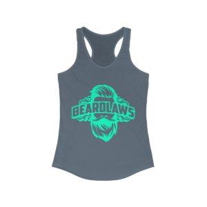 Beard Laws Women's Ideal Racerback Tank - Spring Green Logo