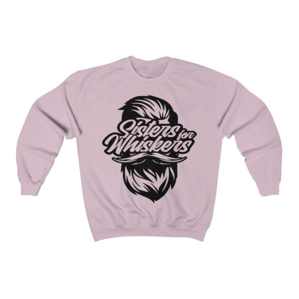 Sisters For Whiskers - Unisex Heavy Blend™ Crewneck Sweatshirt - Black Logo