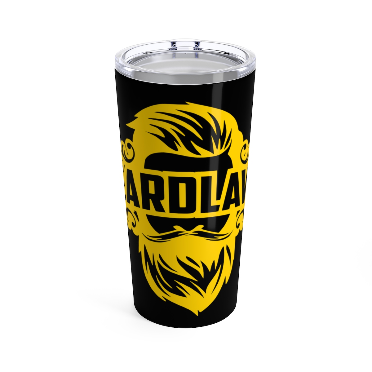 Beard Laws Tumbler 20oz - Black & Yellow