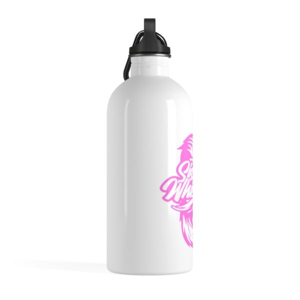 Sisters For Whiskers Stainless Steel Water Bottle - Pink Logo