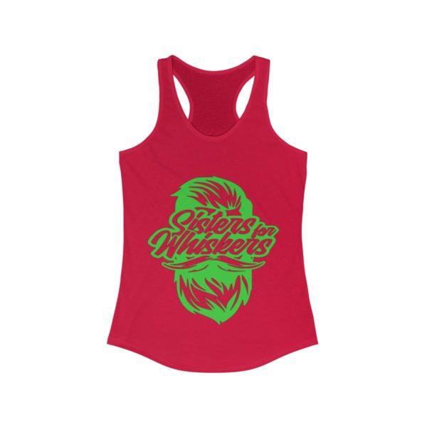 Sister For Whiskers -  Racerback Tank - Lime Green