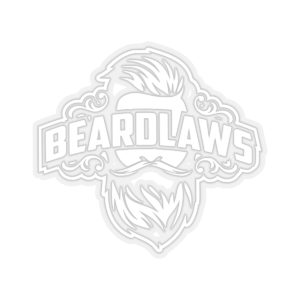 Beard Laws Kiss-Cut Stickers - White