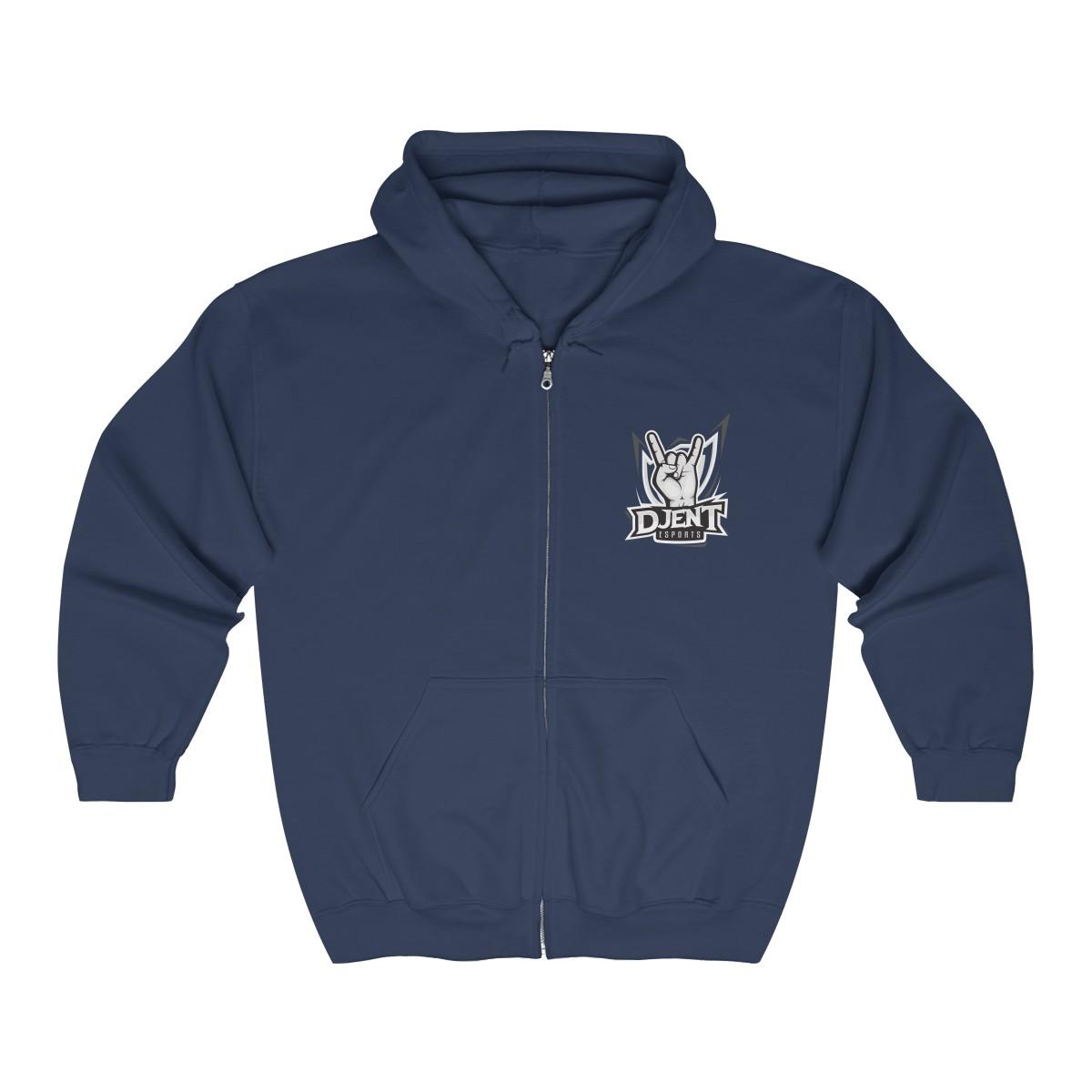 Djent Esports Full Zip Hooded Sweatshirt - Black Logo