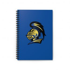 LCS Golden Knights Spiral Notebook - Ruled Line - Blue