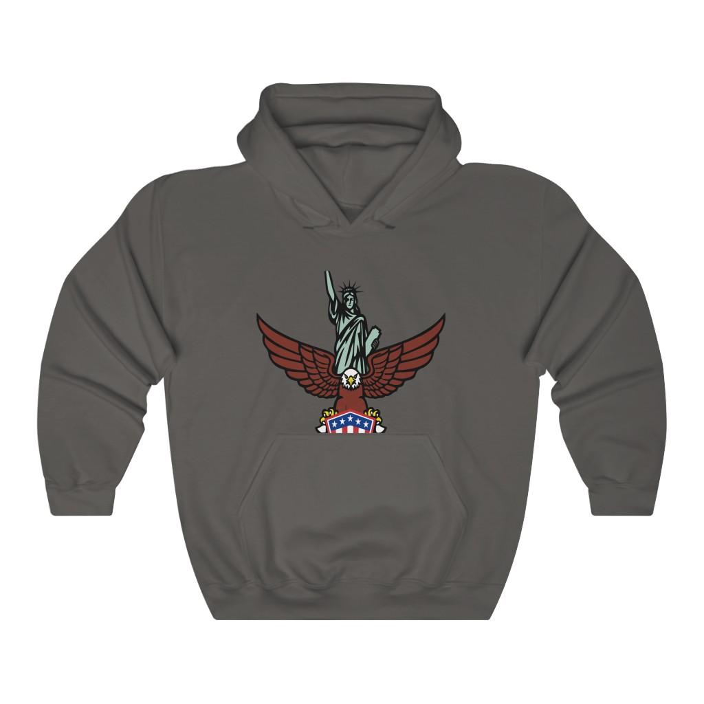 NY Biker Style Hooded Sweatshirt