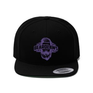 Beard Laws Flat Bill Hat Purple
