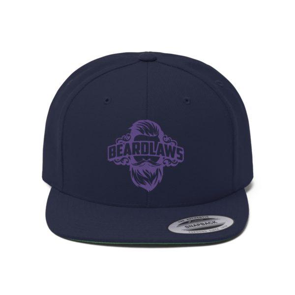 Beard Laws Flat Bill Hat Purple
