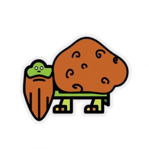 Bearded Tater Turtle Kiss-Cut Stickers