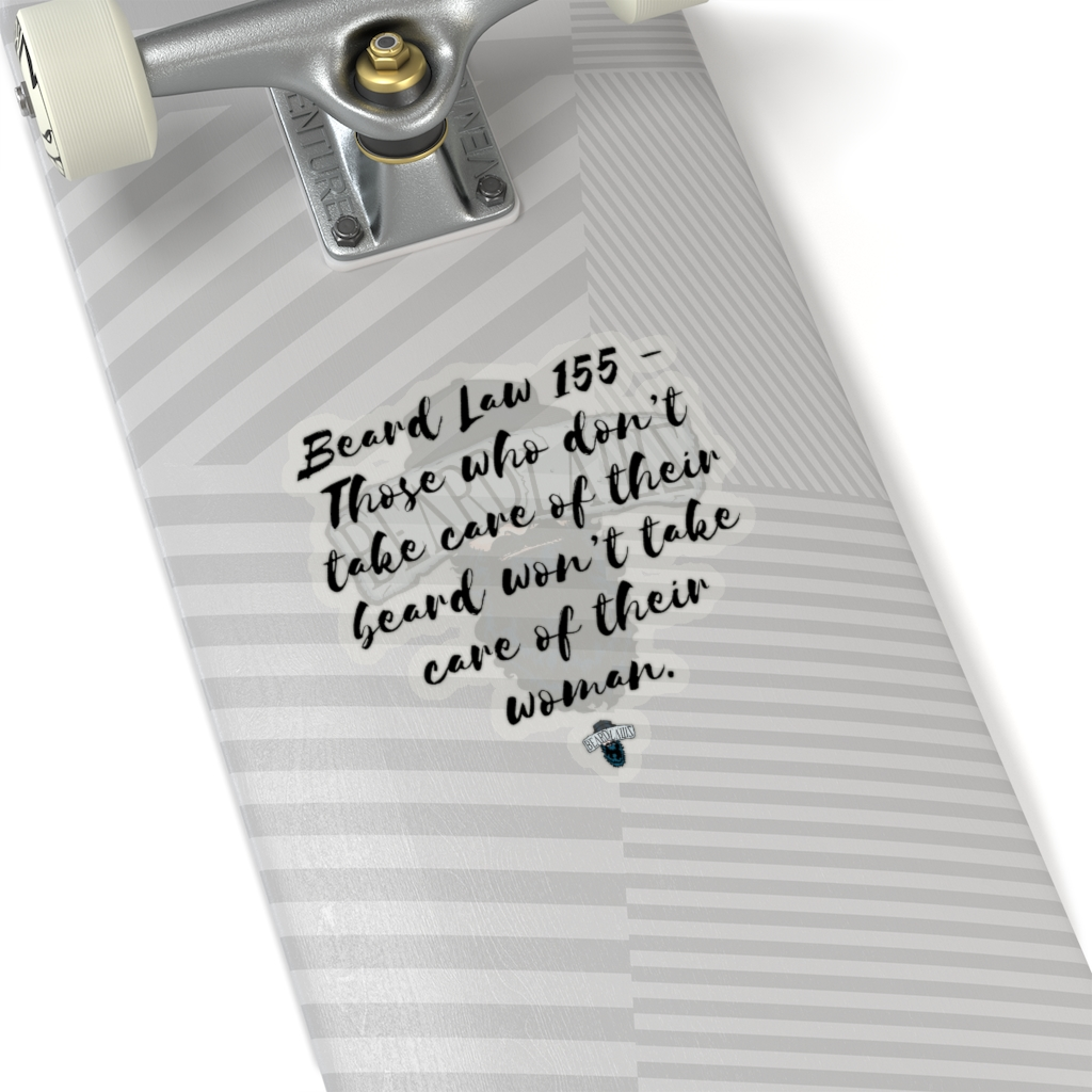 Beard Law 155 Sticker