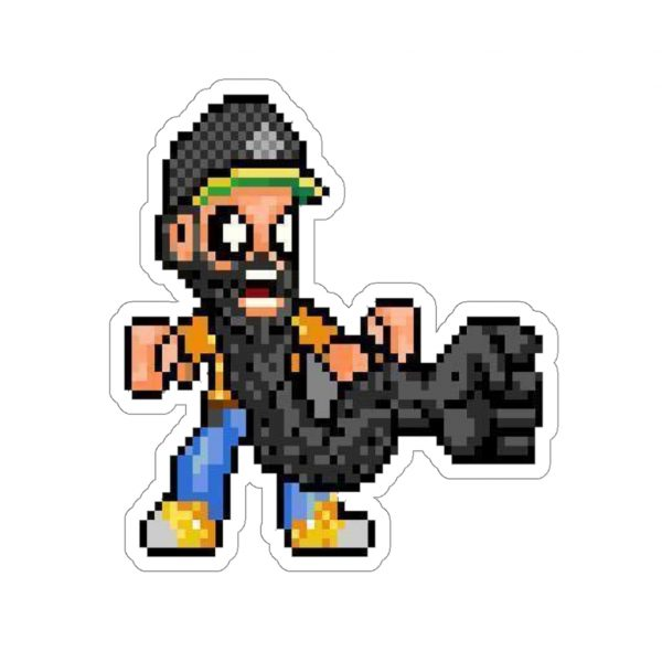 ** Beard Laws 16 Bit Kiss-Cut Stickers **