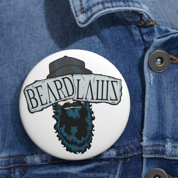 Beard Laws 2.0 Pin Buttons
