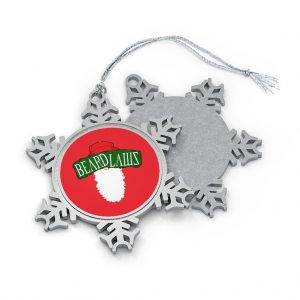Beard Claws Pewter Snowflake Ornament