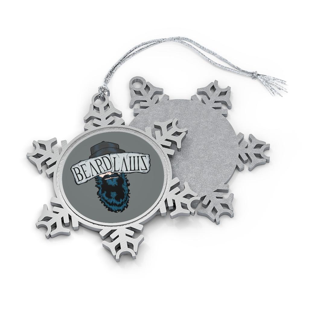 Beard Laws Pewter Snowflake Ornament