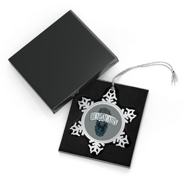 Beard Laws Pewter Snowflake Ornament